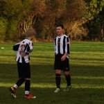 Norlan and man of the match Sean discussing tactics